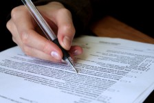 Review and signing of legal contract