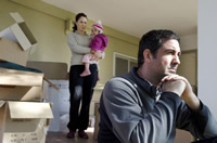 Image: stressed family during divorce
